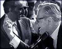 Gov. Nelson Rockefeller finger re Attica requests 1971