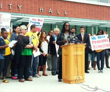 Richmond City Councilwoman Jovanka Beckles speaks anti-foreclosure rally 073013