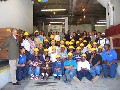Cypress Mandela Training Center instructors and trainees, exec dir Art Shanks far left