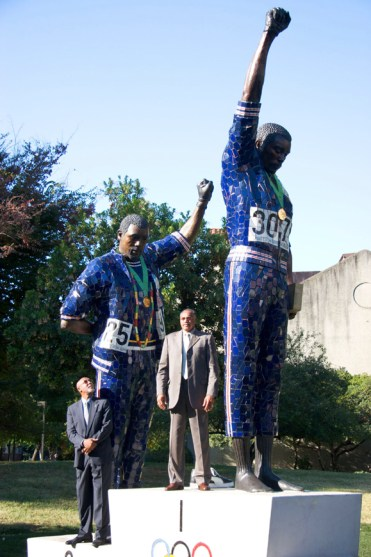 Drs. John Carlos, Tommie Smith, The Statue by Rigo23 San Jose State, web