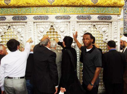 Malcolm Shabazz at Zainab tomb in Syria