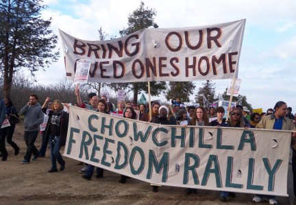Chowchilla Freedom Rally march 'Bring our loved ones home' 012613 by Wanda, web