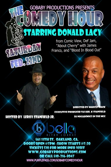 Go Baby Productions presents The Comedy Hour with Donald Lacy poster