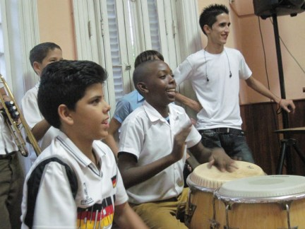 Richmond Regla Cuba Tour La Colmenita musicians 1213 courtesy Marilyn Langlois, web