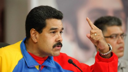 Venezuelan President Nicolas Maduro speaks to nation from Miraflores Palace 021614 by Reuters