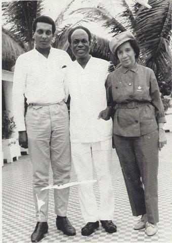 Stokely Carmichael, Kwame Nkrumah, Shirley Graham DuBois in Guinea 1967