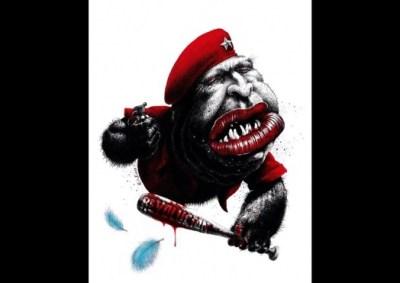 Hugo Chavez racist Venezuelan cartoon by Kiko Rodriguez