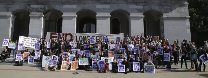 Joint hearing on solitary group photo of most supporters & Capitol 021114 by Lucas Guilkey