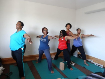 Katrina Lashea teaches free yoga class at Be Still Retreat