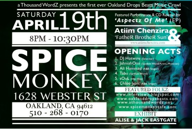 Oakland Drops Beats Music Crawl, Spice Monkey 041914