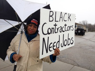 Black women work construction too and are even more likely to be excluded, despite their skills, as Black men. – Photo: Norman K. Edwards, American Center for Economic Equality