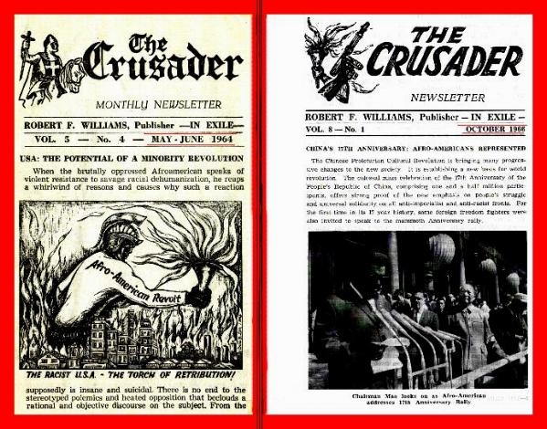 Two front pages of the Crusader, in 1964 and 1966, published in Cuba