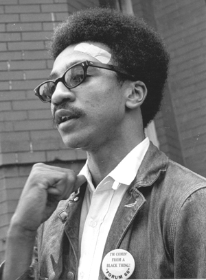 In 1967, fiery speaker H. Rap Brown was elected chairperson of SNCC, the Student Nonviolent Coordinating Committee, succeeding Stokely Carmichael. The government has been trying to silence him ever since.