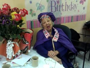 Verlie Mae Pickens celebrates her 98th birthday at the Dr. George Davis Senior Center on June 11. – Photo: Rochelle Metcalfe