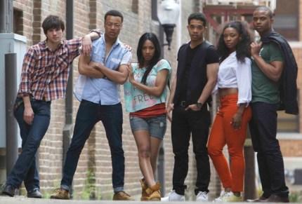 """The """"Blackbird"""" cast – Julian Walker as Randy Rousseau is second from left."""