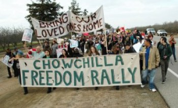 "On Jan. 26, 2013, hundreds traveled to the Chowchilla Freedom Rally to ""bring our loved ones home."" Speakers contended that day that thousands of women prisoners were eligible for release. The upcoming rally against the McFarland GEO prison will turn up the volume."