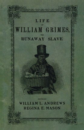 """In a January 2014 story about so-called """"slave narratives,"""" prompted by the opening of the film """"12 Years a Slave,"""" Sarah Churchwell, writing for The Guardian, starts by discussing """"The Life of William Grimes,"""" the first book-length autobiography written by a fugitive enslaved African in the U.S.: """"In 1825 a fugitive slave named William Grimes wrote an autobiography in order to earn $500 to purchase freedom from his erstwhile master, who had discovered his whereabouts in Connecticut and was trying to remand Grimes back into slavery. At the end of his story the fugitive makes a memorable offer: 'If it were not for the stripes on my back which were made while I was a slave, I would in my will, leave my skin a legacy to the government, desiring that it might be taken off and made into parchment, and then bind the Constitution of glorious happy and free America.' Few literary images have more vividly evoked the hypocrisy of a nation that exalted freedom while legitimizing slavery."""""""
