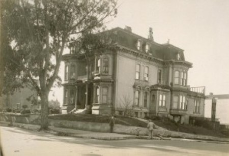 The Bell mansion, where the great Mary Ellen Pleasant held sway, in a photo taken in January 1925