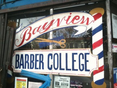 A landmark in Bayview Hunters Point, Bayview Barber College is directly across Third Street from the Bay View.