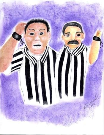 """Stronger Together: Black Brown Unity in Prison"" – Art: Jose Villarreal, H-84098, SHU C11-106, P.O. Box 7500, Crescent City CA 95532"
