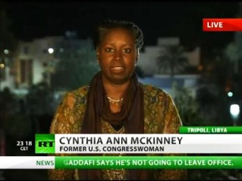 Cynthia McKinney went to Libya during the U.S.-NATO invasion to determine and report the truth.