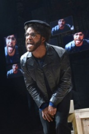 "In ""Party People"" at the Berkeley Rep, Christopher Livingston plays the Panther cub, Malik. – Photo: KevinBerne.com"