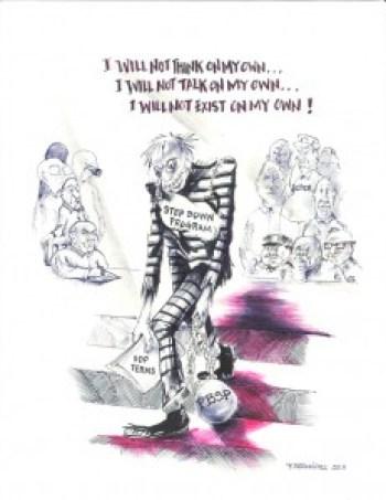 """Step Down Program"" – Art: F. Bermudez"