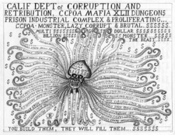 """The Prison Beast"" – Art: Unknown prisoner (Dear reader, is this your work?)"