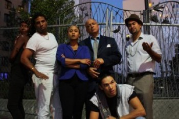 "The all Black and Brown cast of ""Superheroes,"" running Nov. 21-Dec. 21 at the Cutting Ball Theater, 277 Taylor in Frisco, from left, are Britney Frazier, Myers Clark, Delina Brooks, Donald Lacy, Juan Amador and, in front, Ricky Saenz. This play is a must-see for the Black and Brown communities and everyone who cares about justice."