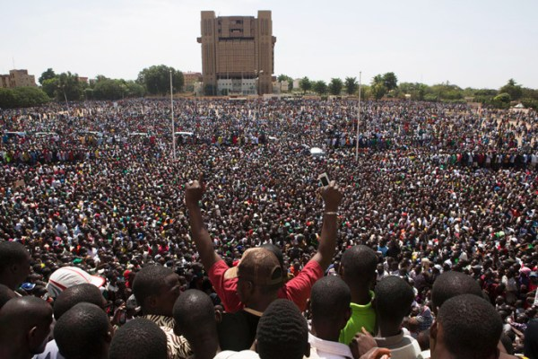 Hundreds of thousands of Burkinabe - people of Burkina Faso - gathered in the Place de la Nation in the country's capital, Ouagadougou, to demand the resignation of President Blaise Campoare, on Oct. 31, 2014. – Photo: Joe Penney, Reuters