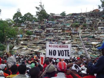 Abahlali baseMjondolo, a South African grassroots shack dwellers' movement, demands the basic human right to land and dignity. – Photo: Christopher David Lier
