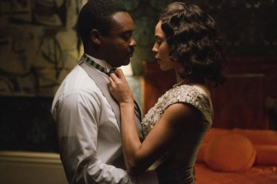 """When her jailed husband has a spasm of jealousy about a meeting she had with Malcolm X, she deftly defuses it with an adorable mixture of deference and defiance,"" Muwakkil writes, referring to Coretta (Carmen Ejogo) and Martin Luther King (David Oyelowo) in ""Selma."" – Photo: Atsushi Nishijima, Paramount Pictures"