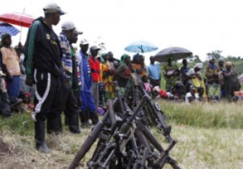 Some members of the FDLR surrendered in this and several other ceremonies, but Russ Feingold, U.S. envoy to the Great Lakes Region, says their numbers have not been enough.