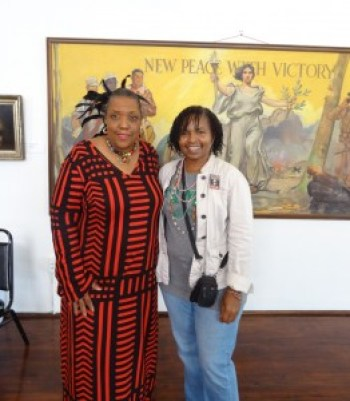 Wanda met Cherise Harrison, whose family has a museum honoring the Mardi Gras Indian tradition, named for her father Donald Harrison Sr., at the George and Leah McKenna Museum of African American Art in New Orleans. – Photo: Wanda Sabir