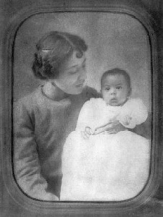 """Carolina """"Carrie"""" Hughes with baby Langston"""