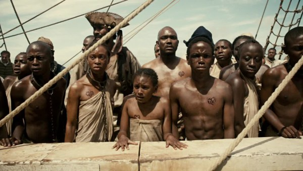 """A scene from Episode 1 of the BET series """"The Book of Negroes"""""""