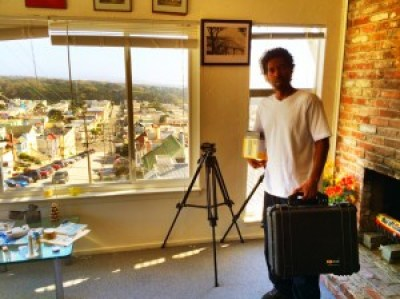 Kevin Epps on his home turf in Hunters Point