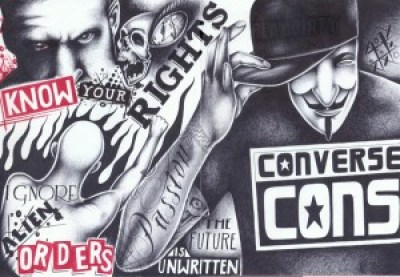 """Know Your Rights"" – Art: Chriss Garcia, J-93559, PBSP SHU C1-112, P.O. Box 7500, Crescent City CA 99531"