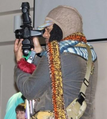 San Francisco Black Film Festival Director Kali O'Ray mans the camera.