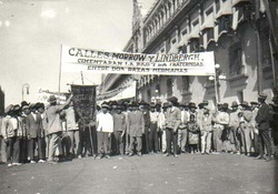 "The Confederación de Uniones Obreras Mexicanas (Federation of Mexican Workers Union-CUOM) was the first ""union"" for Mexican workers, founded in Los Angeles in 1927."
