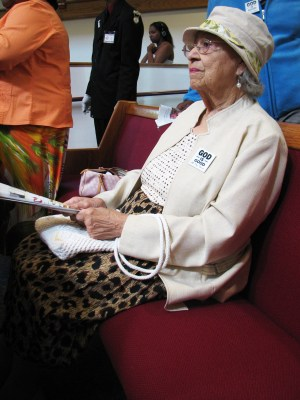 Ms. Pickens in her church home, Jones United Methodist Church, in 2014 – Photo: Anh Le