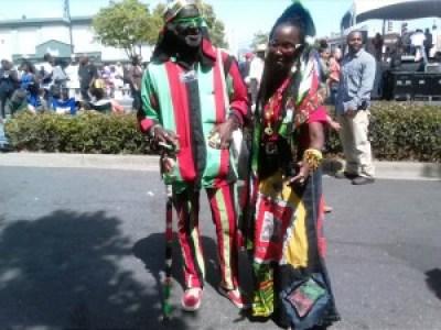 Brother Tahuti and Nefertina Abrams looking fine!