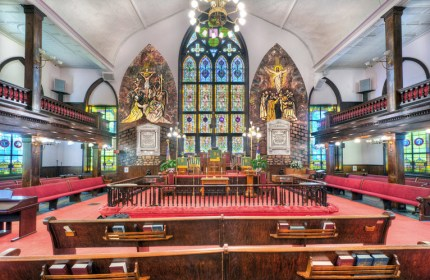 """Mother Emanuel,"" as this magnificent church is known, is the oldest AME church in the South – founded in 1816 – with the oldest and one of the largest Black congregations south of Baltimore. – Photo: TheChurchesoftheWorld.com"