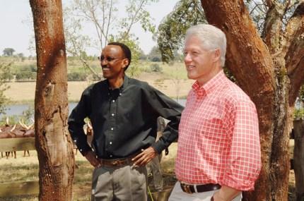 Rwandan President Paul Kagame, left, and former U.S. President Bill Clinton at Kagame's farm in Muhazi, Rwanda – Photo: Charles Onyango-Obbo