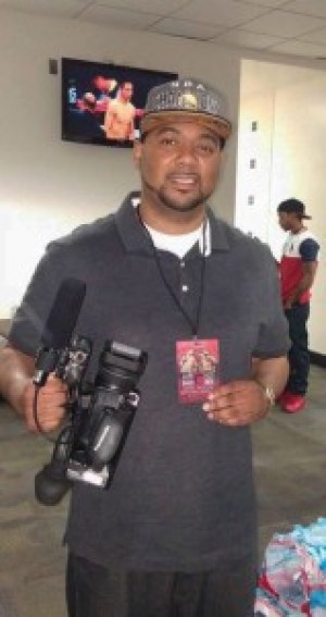 "Stephen ""ProFanatics"" Greer, camera at the ready, covers local sports events, such as high school football, track, basketball and baseball. He's another outstanding Bayview Hunters Point talent."