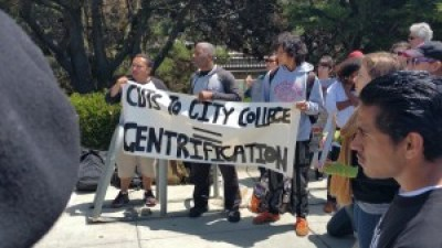 During the long struggle to save City College, it's not just students protesting. Many faculty and staff members have joined them, often at their economic peril. – Photo: Lalo Gonzalez