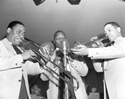 A trio of musicians from Duke Ellington's orchestra, NY – Photo: Gordon Parks