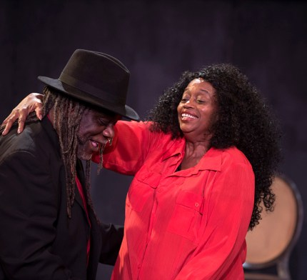 Reginald Wilkins as Elmore with Ayodele Nzinga as Ruby – Photo: Malaika H Kambon