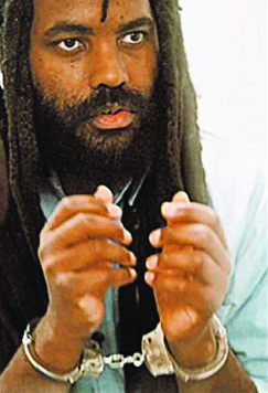 Mumia during his years on death row