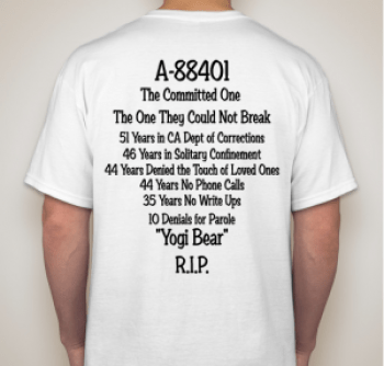 'Revolutionary- In loving memory of Hugo L.A. Pinell' T-shirt back by Allegra Taylor